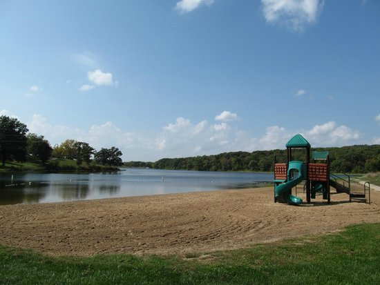 Beach Area at Nine Eagles State Park