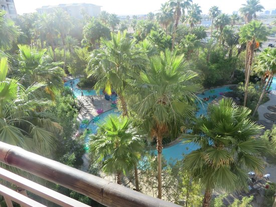 Tahiti Village : A view of the lazy river from 5th floor, Tower 5