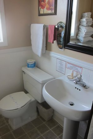 Siesta Motel Colfax: Small and old but clean and functional bathroom