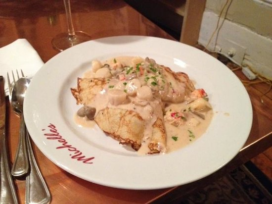Michelle's On Market Square: Seafood crapes