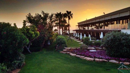 Dan Accadia Hotel Herzliya: View of grounds from 2nd floor Garden Room