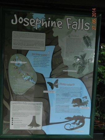 Josephine Falls: sign