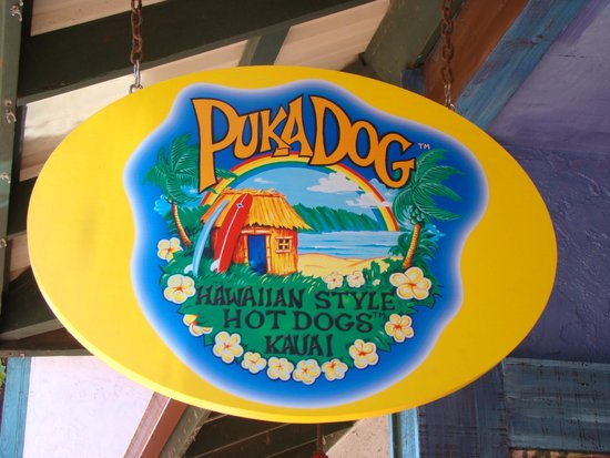 Puka Dog: Very nice signage.