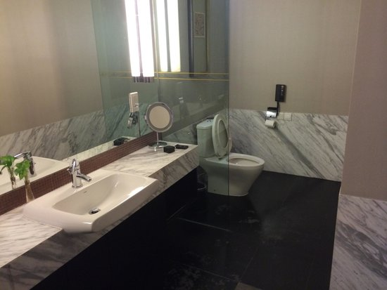 Yuehe Kezhan Hotel : Sink was big and had toothbrushes,soap,and other items I never used, also shower gel and shampoo