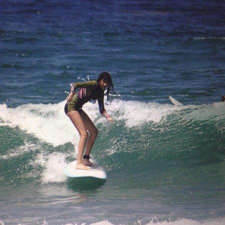 Estancia La Jolla Hotel & Spa : Daughter surfing