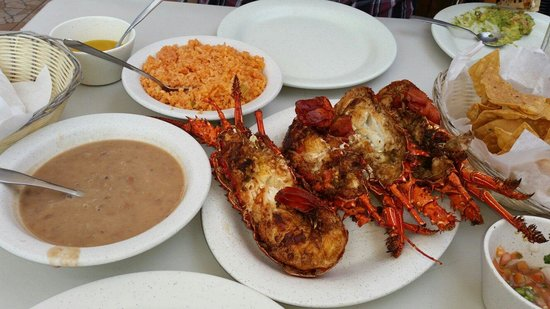 Angel Del Mar: Lobster tails with the works
