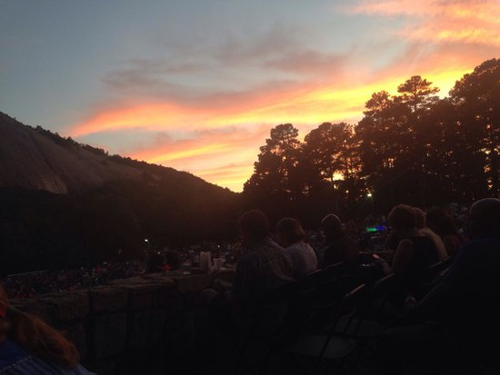 Lasershow Spectacular at Stone Mountain Park: Sunset