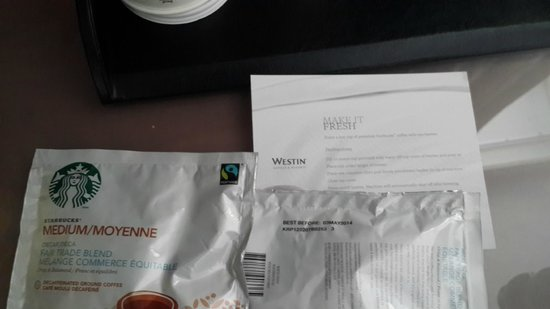 The Westin Minneapolis: expired coffee