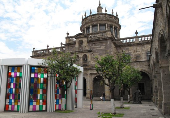 Instituto Cultural Cabanas: The exterior of the dome - from one of the patios