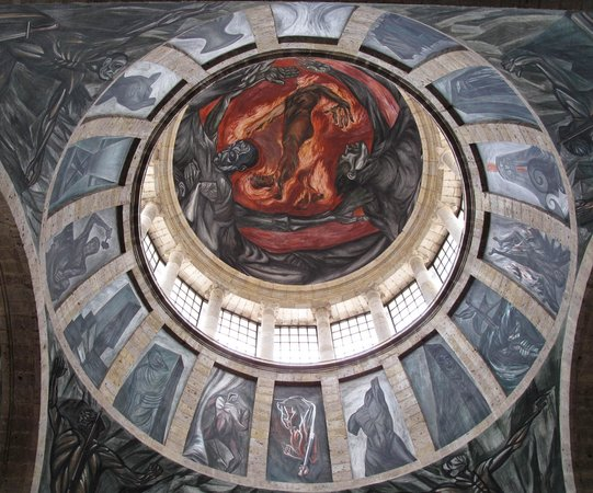 Instituto Cultural Cabanas : The dome - with a mural by Jose Clemente Orozco