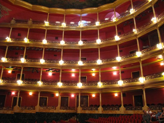 Teatro Degollado: The balconies