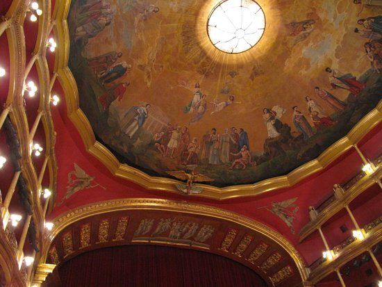 Teatro Degollado: The ceiling