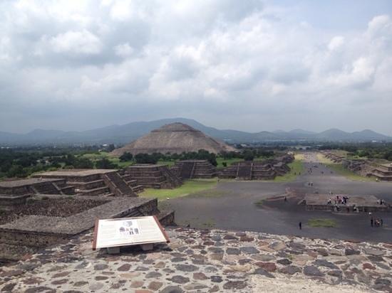 Pyramid of the Sun: desde arriba