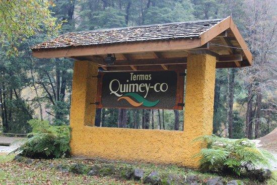 Termas Quimey-co: Entrada da termas.