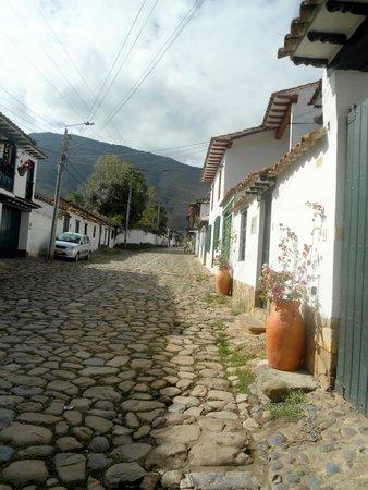 Posada Santa Catalina: Historical street view from the Posada