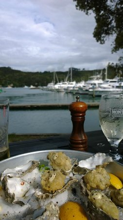 Salt Bar and Restaurant: Battered oysters by the bay.