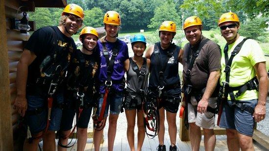 Soaring Cliffs Zip Line Course: Group photo