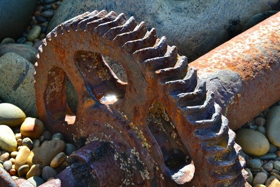 Wreck of the S.S. Ethie: Gear from the ship