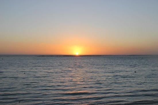 Trou aux Biches Beachcomber Golf Resort & Spa: Beautiful sunset