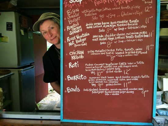 Black Dog Cafe: ...the smile says it all....Good food at reasonable prices.