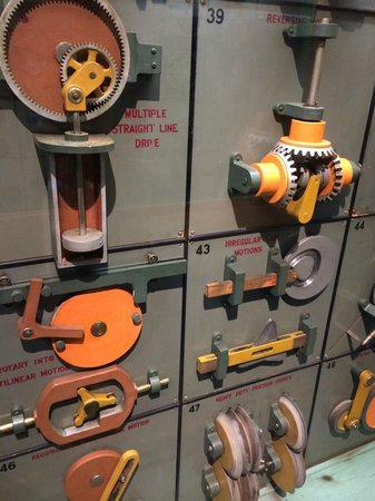 Museum of Science : One of several interesting mechanical motion exhibits