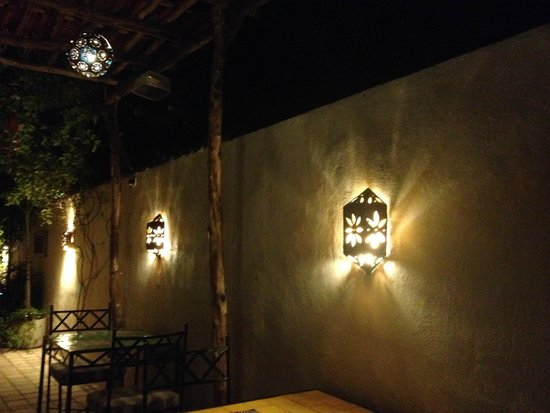 Casa Del Maya: The terrace area at night :)
