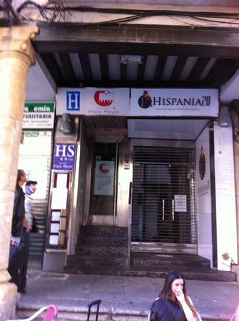 Hostal Plaza Mayor: entree de l'hotel
