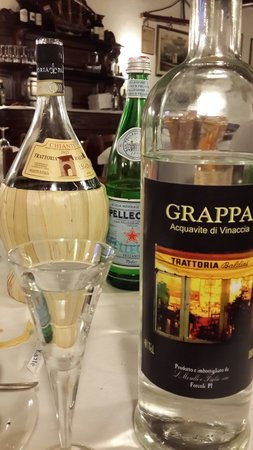 Trattoria Baldini: Grappa at the end...