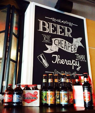Craft F&B Co.: Disply of a few of the craft beers that we offer