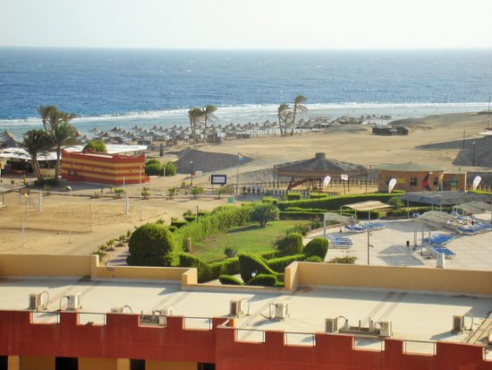 El Malikia Resort Abu Dabbab: Vista dalla mia stanza