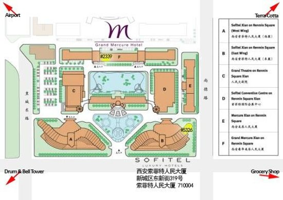Sofitel Xian on Renmin Square: hotel compound map