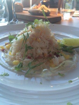 Coast Saundersfoot: Crab starter with mango