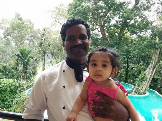 The Windflower Resort and Spa, Coorg: Baby with Mr. Nanda Kumar