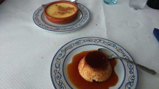Restaurante El Pradillo: natillas y flan de huevo