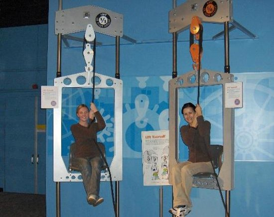 Science World: pull yourself up - it's a race