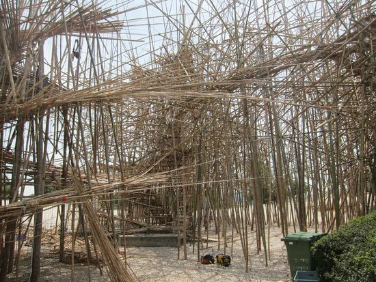 Museo de Israel: New bamboo art exhibit under construction