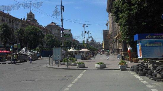 Maidan Nezalezhnosti (Independence Square): Палатки на Майдане
