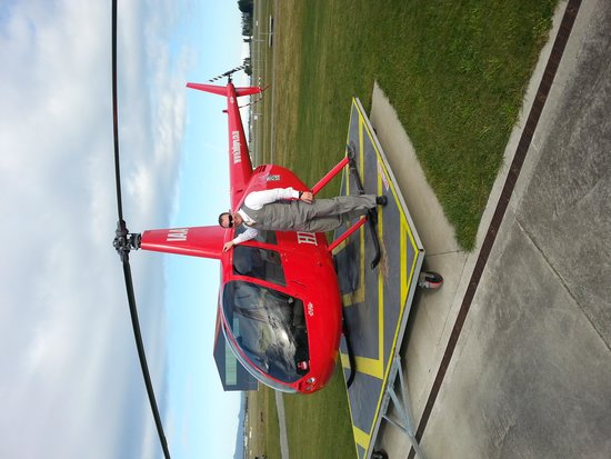 HELiPRO: myself just after the flight over Christchurch City