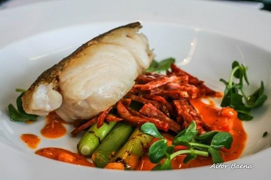 Kitchen and Bar : Line Caught Cod with Suffolk Chorizo