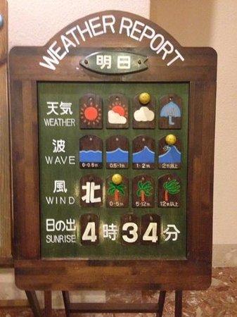 Izu-Imaihama Tokyu Hotel: フロントのウェザーリポート