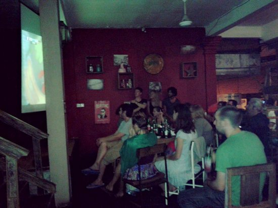 Bamboo Restaurant: watching world cup .. prancis vs jerman
