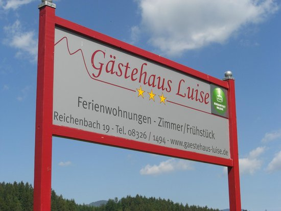Gästehaus Luise: Schild beim Haus