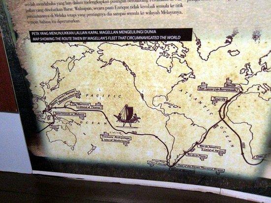 Flora de la Mar Maritime Museum: Interesting trade routes map.