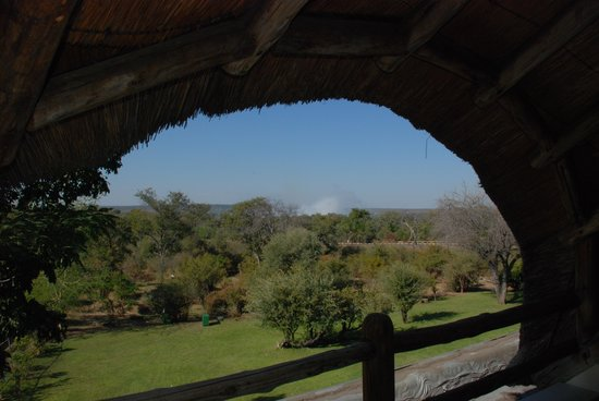 Ilala Lodge: View of the mist from the balcony
