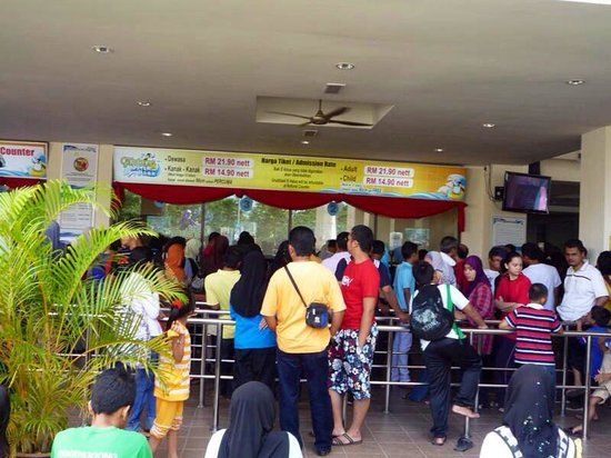 Kuantan, Malasia: Ticket counter