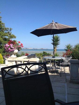 La Haule Manor: View from terrace