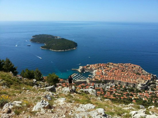 Funiculaire de Dubrovnik : View of Dubrovnik with Cable car