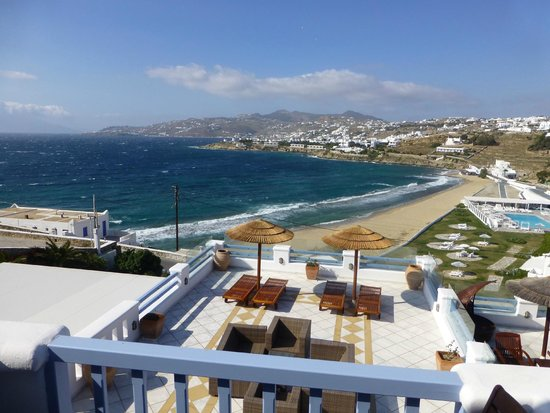 Grand Beach: View of Mykonos Town From Room