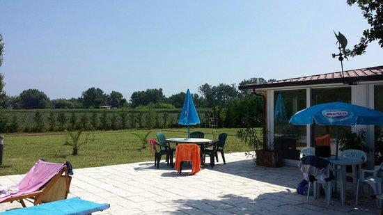 Il Boschetto: Terrazzo davanti alla piscina