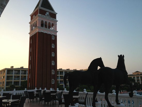 Venezia Palace Deluxe Resort Hotel: вид с террасы